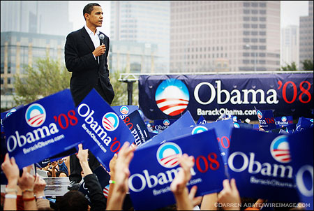 2008 Presidential Campaign - Senator Barack Obama Rally - Austin, Texas - February 23, 2007