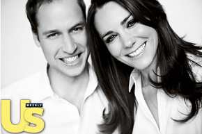 Prnice William and Kate Middleton - Black and White Portrait