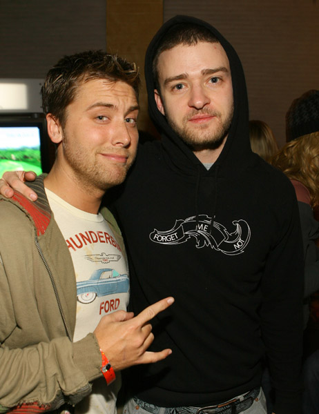 Lance Bass and Justin Timberlake