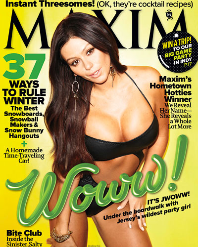 "Photos: JWoww Struts Her ""Stuff"" For Maxim – Jan 2012"