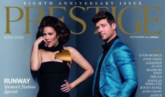Robin Thicke & Paula Patton Cover Prestige Hong Kong Anniversary Issue (Photo)