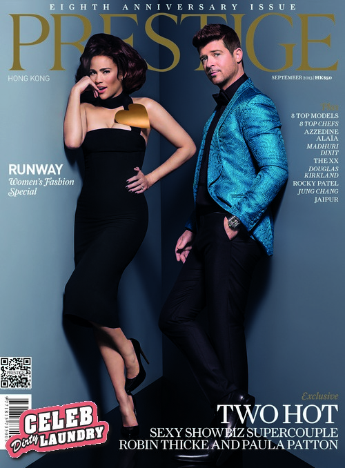 Robin Thicke & Paula Patton Cover Prestige Hong Kong Anniversary Issue (Photo)