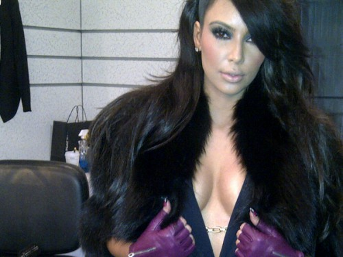 Kim Kardashian Bares Her Cleavage