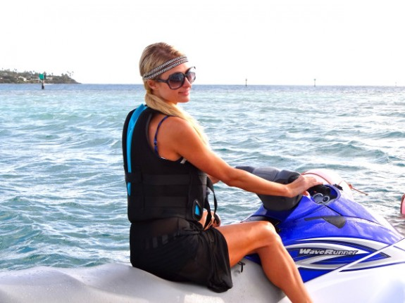 Paris Hilton Rocks The Jet Ski and Looks FAB Doing So