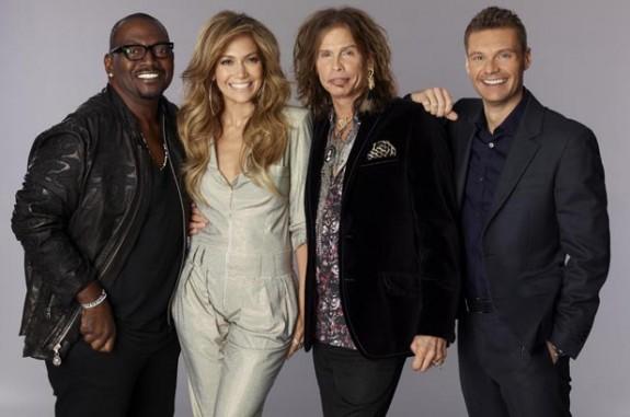 American Idol - Randy Jackson, Jennifer Lopez, Steven Tyler, and Ryan Seacrest