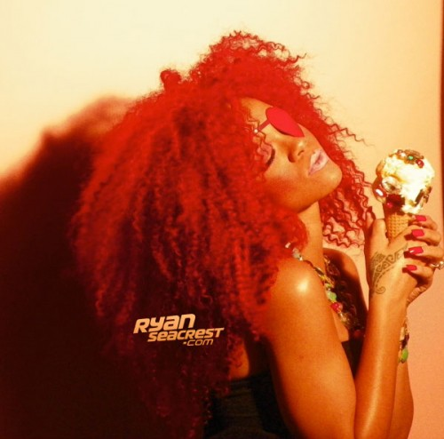 Rihanna Sizzles in S&M Video Shoot – Photos