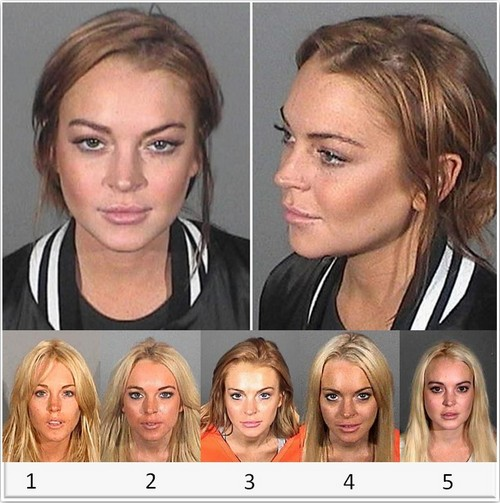 A Review Of Lindsay Lohan's Mugshots - Vote For Your Favorite! (POLL)