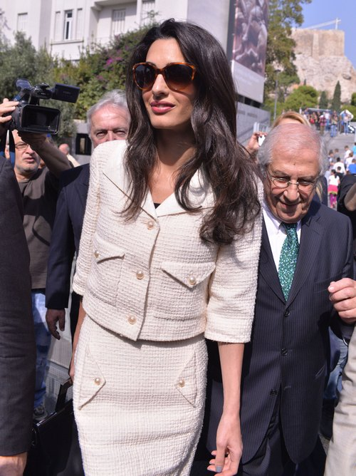 Amal Alamuddin Clooney Visits Athens to Advise on Return of Parthenon Marbles