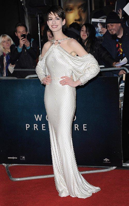 Anne Hathaway Les Miserables Premiere