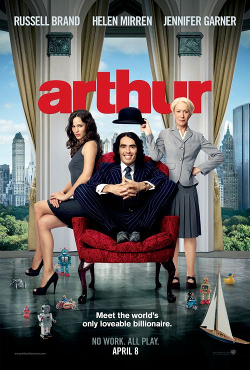 Russell Brand: Official &#8216;Arthur&#8217; Poster Unveiled