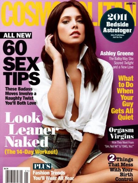 Ashley Greene is Smokin' Hot on Cover of Cosmo – Jan 2011