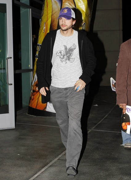 Ashton Kutcher Spotted Playing Laser Tag With New Girlfriend Lorene Scafaria