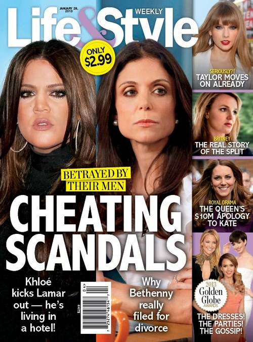 Khloe Kardashian and Bethenny Frankel Betrayed By Their Husbands (Photo)