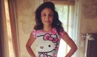 Bethenny Frankel Anorexic Famewhore: Wears Her Four-Year-Old Daughter's Hello Kitty Pajamas