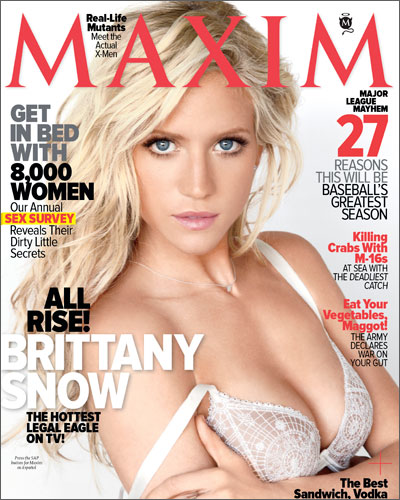 Brittany Snow OWNS The Maxim April 2011 Issue – Photos