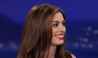 VIDEO: Anne Hathaway Raps For Conan O'Brien