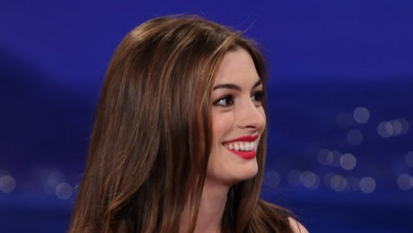 VIDEO: Anne Hathaway Raps For Conan O'Brien