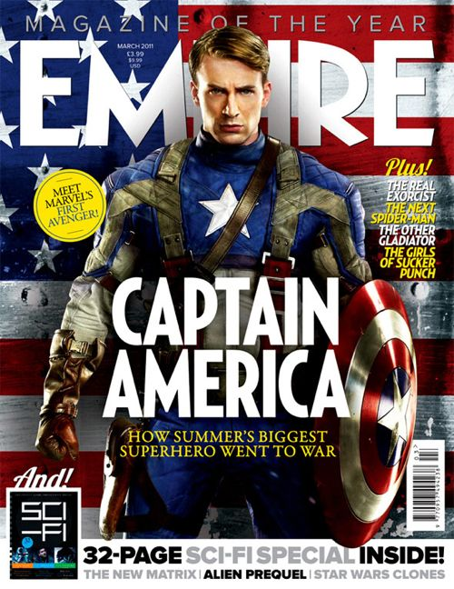 Captain America Covers Empire Mag March 2011 – NEW PHOTOS