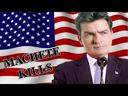 "Charlie Sheen Cast as Most Powerful Man in the World in ""Machete Kills"""