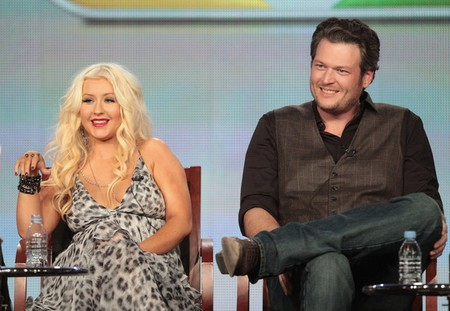 Are The Voice's Christina Aguilera &amp; Blake Shelton Flirting Backstage?