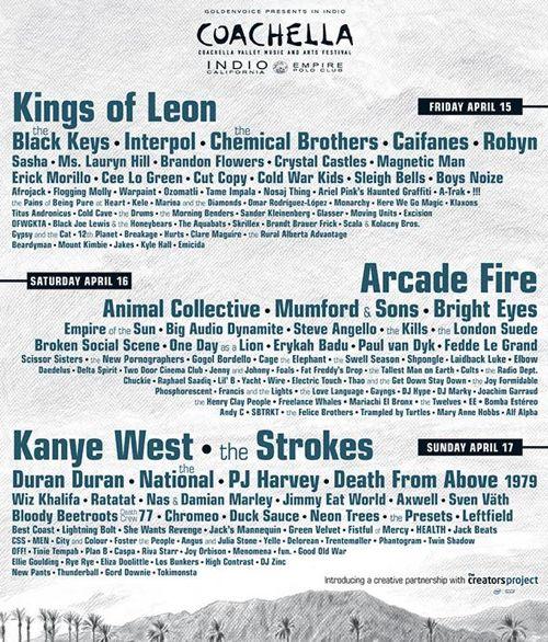 2011 Coachella Lineup