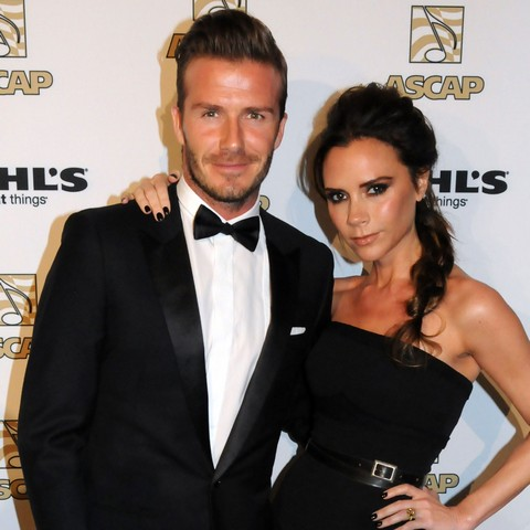 David Beckham Victoria Beckham Red Carpet