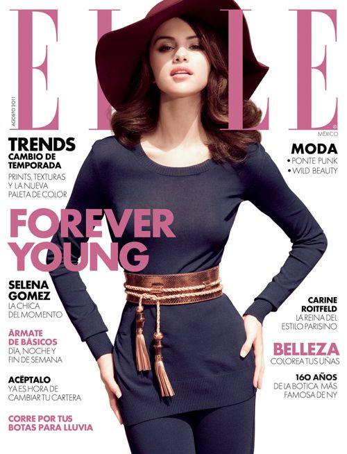 PHOTOS: Gorgeous Selena Gomez Rocks ELLE Mexico &#8211; August 2011