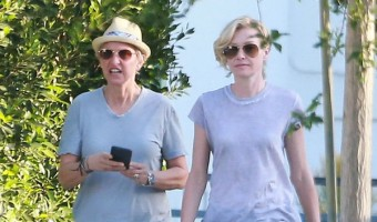 Exclusive... Ellen DeGeneres & Portia de Rossi Stop By A Hospital Before Dinner
