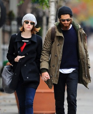 Emma Stone Flips The Bird As She Walks Hand-In-Hand With Andrew Garfield