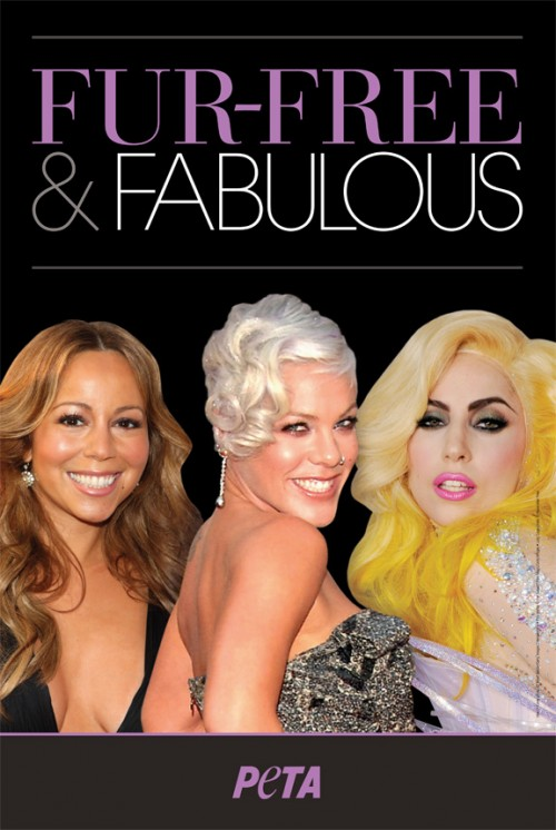 Lady Gaga Trades Her MEAT DRESS to do PeTA With Pink and Mariah Carey, Really?