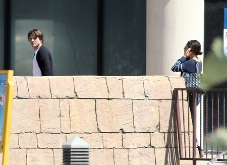 Mila Kunis and Ashton Kutcher Out to See &quot;Batman&quot;