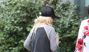Exclusive... Christina Aguilera Heads To A Private Gym