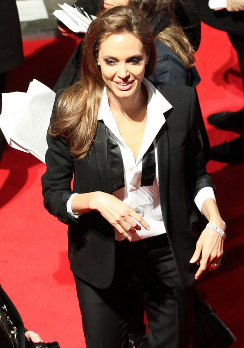 "Angelina Jolie Looked ""Too Skinny"" At BAFTA Film Awards In London-Is She Anorexic? PHOTO HERE!"