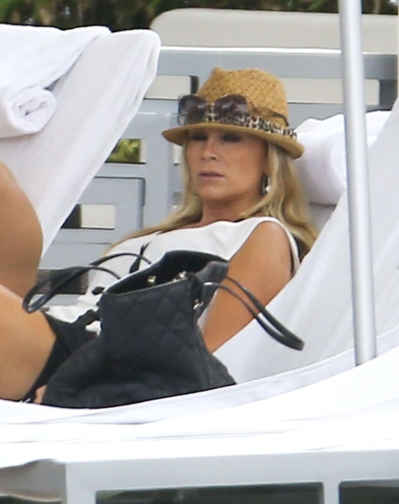 Exclusive... Tamra Barney & Eddie Judge Relaxing Poolside In Miami