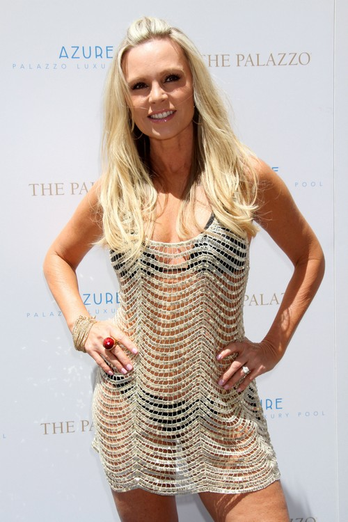 Tamra Barney Hosts at Azure Pool in Vegas