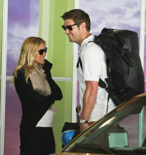 Pregnant Kristin Cavallari And Jay Cutler Arriving On A Flight At LAX