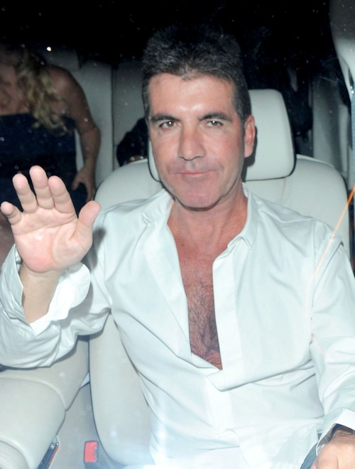 Simon Cowell Leaving Park Lane Hotel