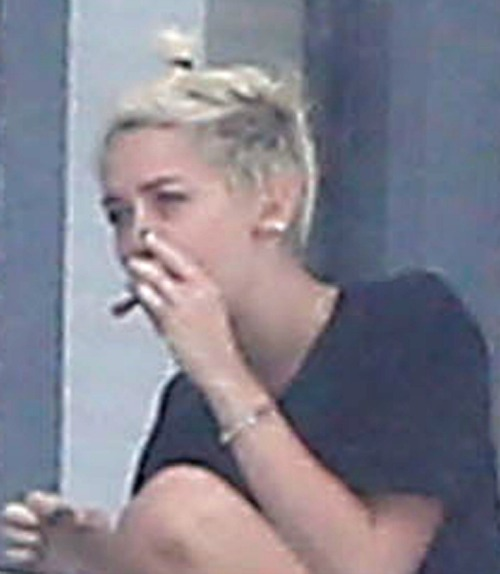 Miley Cyrus Photographed Smoking Pot (Photo)