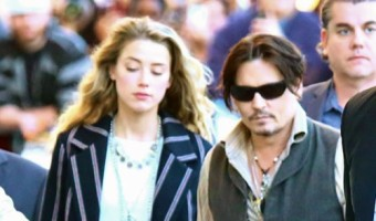 "Johnny Depp & Amber Heard Head To ""Kimmel"" Studios"