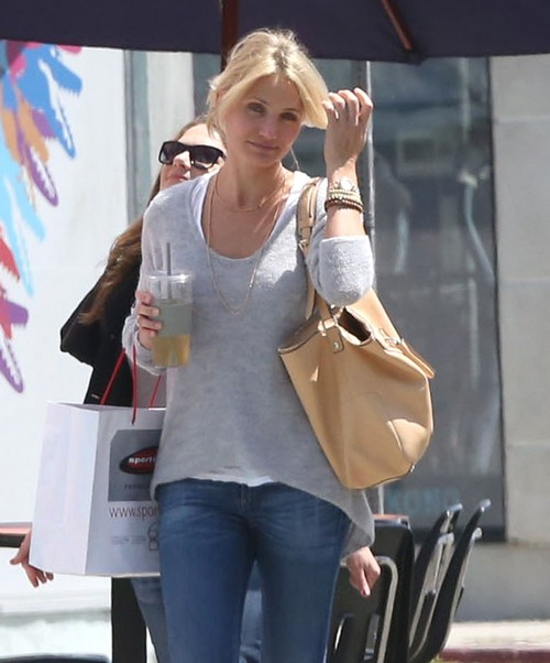 Exclusive... Cameron Diaz Out Shopping In West Hollywood