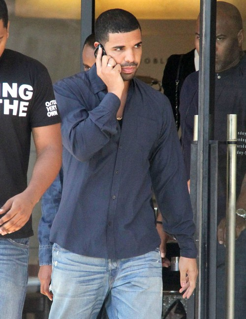 Drake Out Shopping At Barneys New York
