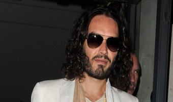 Russell Brand Leaving The SoHo Theatre Bar