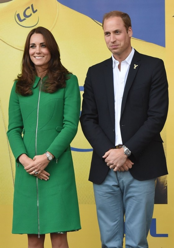 Prince William, Kate Middleton, & Prince Harry Present At The Tour De France Finish