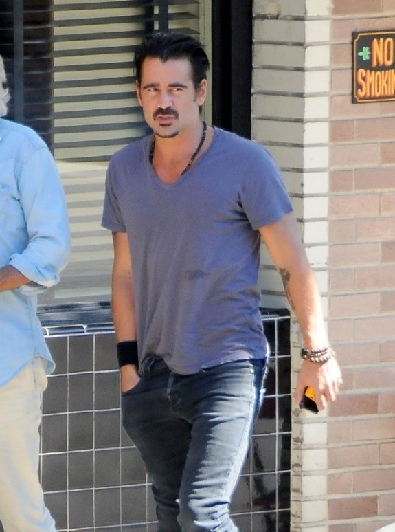 Colin Farrell Out With A Friend In Los Feliz
