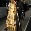 Exclusive... Lindsay Lohan Showing Off Her Best Fur Coat