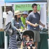 Bethenny Frankel And Family At The Malibu Farmer's Market