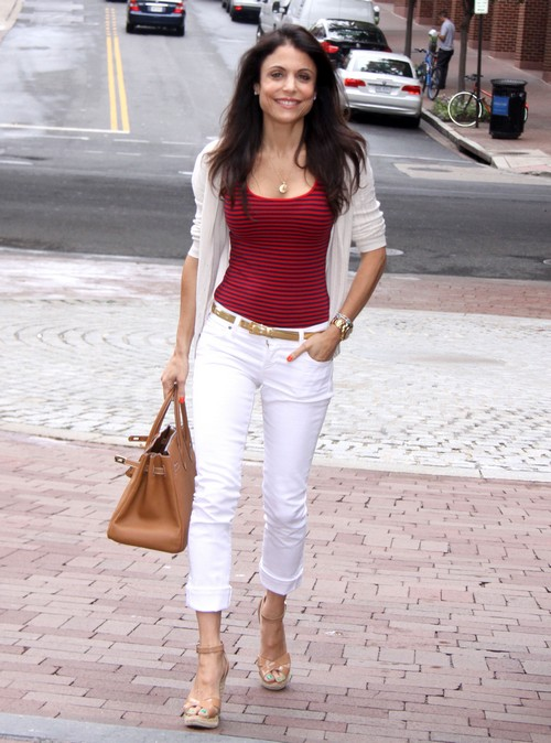Bethenny Frankel Grabs Lunch In D.C.