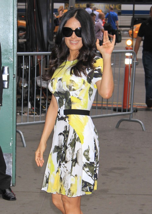 "Salma Hayek Visits ""Good Morning America"""