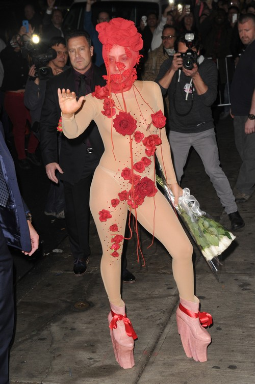 Lady Gaga Strikes a Pose in another Outlandish Outfit to Get Attention (PHOTOS)