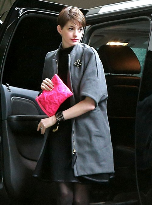 Exclusive... Anne Hathaway At The Chateau Marmont